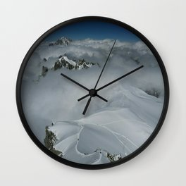 From Aiguille du Midi in the French Alps /Mont Blanc Wall Clock