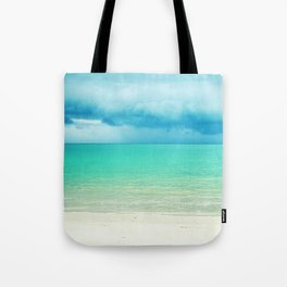 Blue Turquoise Tropical Sandy Beach Tote Bag