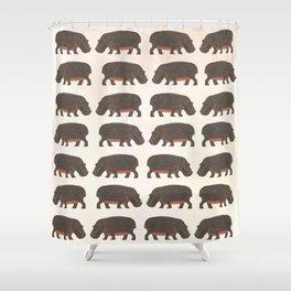 Hippo,hippo Shower Curtain