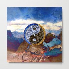 Tibetan Yin Yang Thangka Metal Print