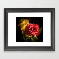 Two Roses Framed Art Print