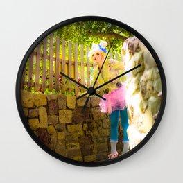 Skylar in Wonderland Wall Clock