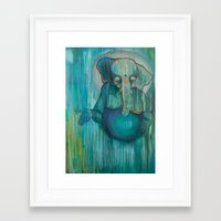 ganesh Framed Art Prints featuring Ganesh  by Magick Monica