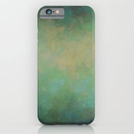 Abstract Soft Watercolor Gradient Ombre Blend 4 Yellow Blue and Green iPhone Case
