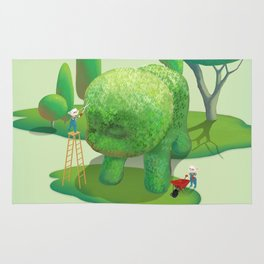 The Topiary Dog Rug