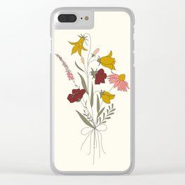 Wildflowers Bouquet Clear iPhone Case