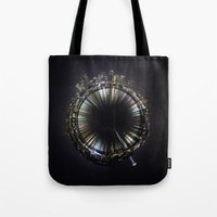 seattle Tote Bags featuring seattle by Aaron Morris