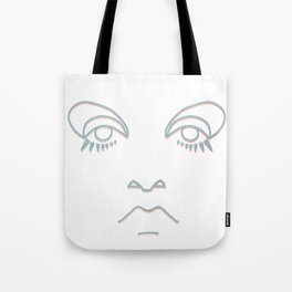 Twiggy in blue and rose gold Tote Bag