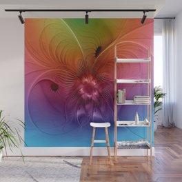 Colorful Abstract Fantasy Fractal Wall Mural