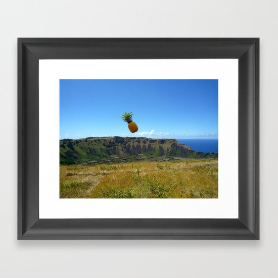 Flying Pineapple Framed Art Print