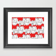 Kitchen Shelves - Red Framed Art Print