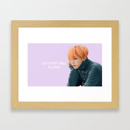 Bigbang MADE Let's Not Fall In Love G-Dragon Pink Framed Art Print