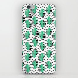 cacti + black iPhone Skin