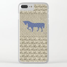 Buster Bleu (Back Pack) Clear iPhone Case
