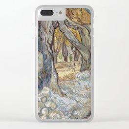 Vincent Van Gogh - Large Plane Trees, 1889 Clear iPhone Case