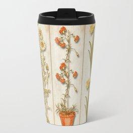 Shabby Chic Plant and Flower Collage Travel Mug