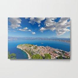 Acronafplia in the bay of Nafplio, Greece  Metal Print