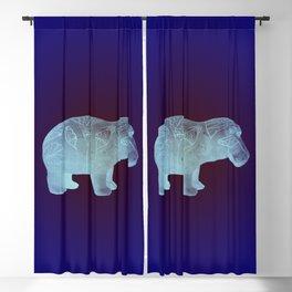 WILLIAM THE HIPPO I Blackout Curtain