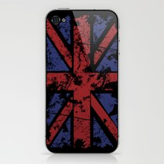 Grunge UK in black iPhone & iPod Skin