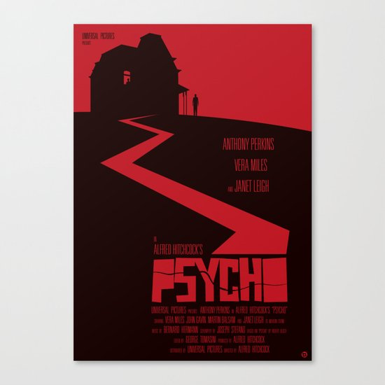 Alfred Hitchcock's Psycho Canvas Print