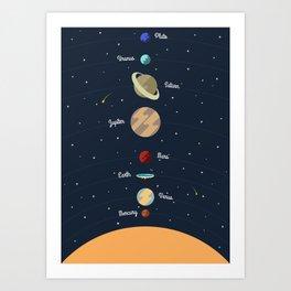 Flat Earth Solar System Art Print