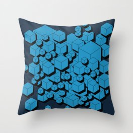 3D Futuristic Cubes VIII Throw Pillow