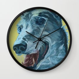 Dilly the Greyhound Portrait Wall Clock