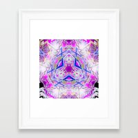 holographic Framed Art Prints featuring Holographic Matrix by SacredLife