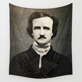 Edgar Allan Poe Engraving Wall Tapestry