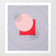 .shapes. Art Print