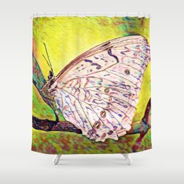 Cabbage White   Painting  Shower Curtain