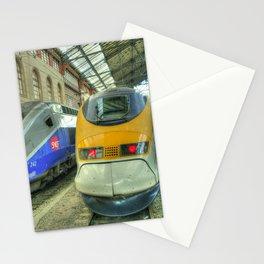 Marseille Trains of Grande Vitesse Stationery Cards