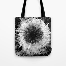 Black and White Tie Dye // Painted // Multi Media Tote Bag