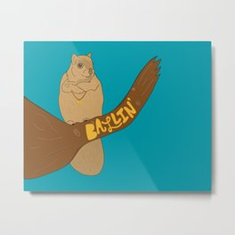 Ballin' Squirrel Metal Print