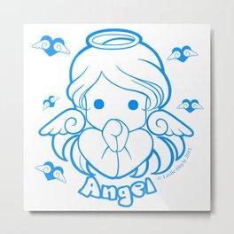 Kawaii Kiddies Cute Angel Metal Print