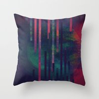 sound Throw Pillows featuring Sound by DuckyB