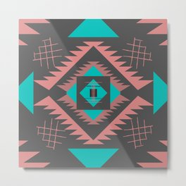 Navajo southwestern shapes Metal Print