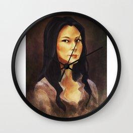 elementary: portrait of joan watson Wall Clock
