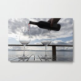 First Pour Red Metal Print