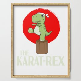 T-Rex Karate Martial Arts Kids Training Gift Serving Tray