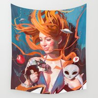 gravity Wall Tapestries featuring GRAVITY by Javier G. Pacheco
