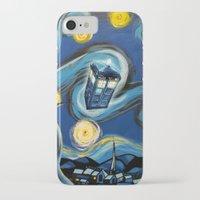 daenerys targaryen iPhone & iPod Cases featuring Tardis Starry Night by DavinciArt