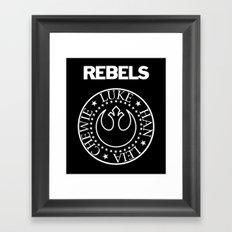 I Wanna Be a Rebel Framed Art Print