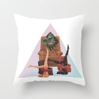 workout Throw Pillows featuring Cosmic Workout by Bopha & Gabe