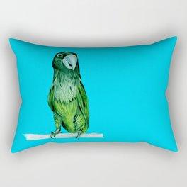 neon bird Rectangular Pillow