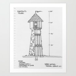 Rampion's (Rapunzel's) Tower Art Print