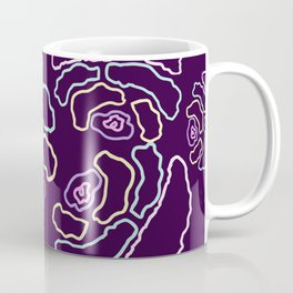 illustration made in pastel colors making small shapes that mimic geometric flowers Coffee Mug