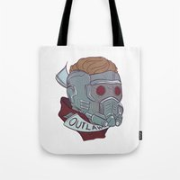 starlord Tote Bags featuring Outlaw by Charleighkat