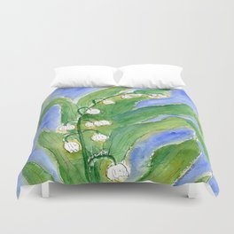 Lilly Of The Valley (Convallaria majalis) Duvet Cover
