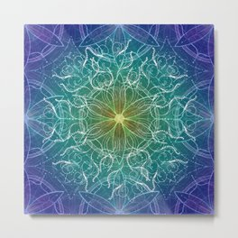 Pure Growth Mandala Metal Print
